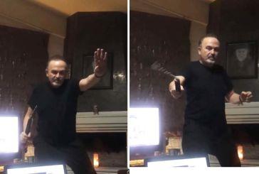 Ο Σταμάτης Γονίδης απειλεί με νίντζα τεχνική τον Ταγίπ Ερντογάν (βίντεο)