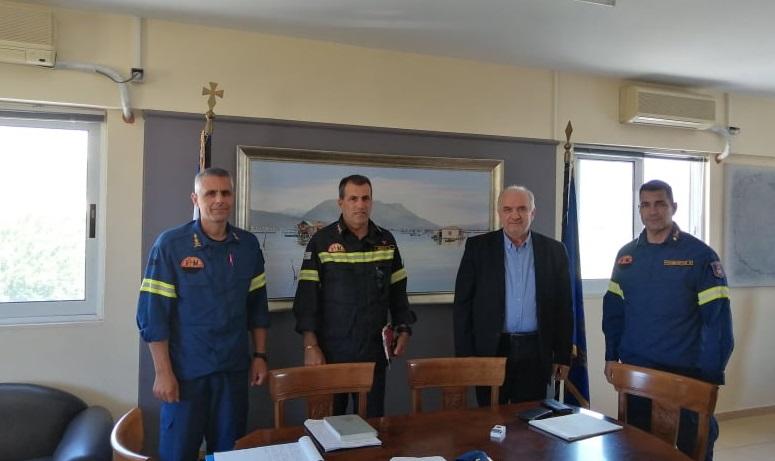 Συνάντηση Λύρου με τον Περιφερειακό Διοικητή Πυροσβεστικών Υπηρεσιών