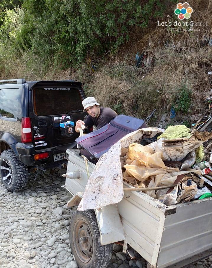 Eθελοντική δράση καθαρισμού Lets Do It Greece στην παραποτάμια ζώνη της Ερμίτσας