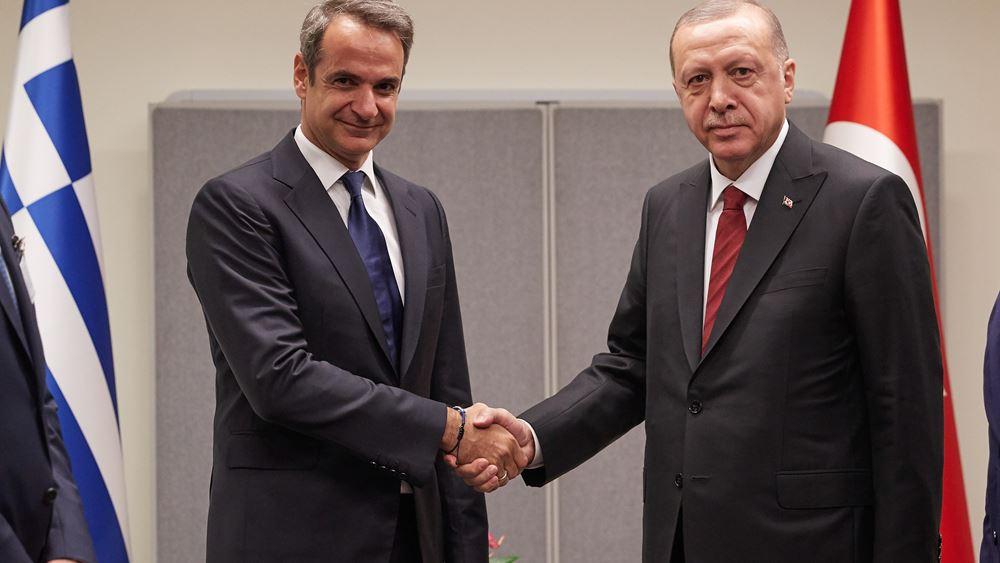 Τηλεφωνική επικοινωνία Μητσοτάκη – Ερντογάν – Τι συζήτησαν