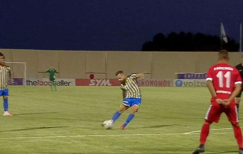 Με τρομερό φάουλ του Μπαΐροβιτς το 1-1 του Παναιτωλικού