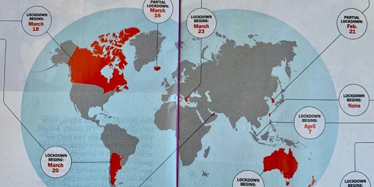 Οι χώρες που κατάφεραν να τιθασεύσουν τον κορωνοϊό -Ο χάρτης του Time με την Ελλάδα «εκπρόσωπο» της Ευρώπης
