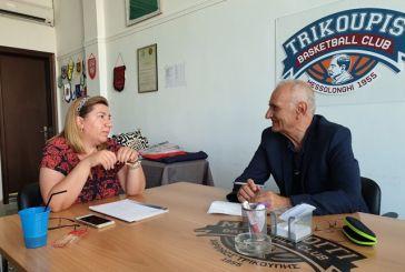 "Mε την πρόεδρο του Χαριλάου Τρικούπη συναντήθηκε ο Βαρεμένος: ""να μην ξεσπιτωθεί η ομάδα"""