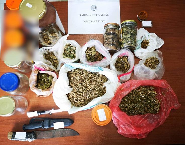 Σύλληψη στο Μεσολόγγι για χασίς μετά από αστυνομική έφοδο σε πελάδα