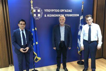 Θετικό κλίμα στη συνάντηση του Υπουργού Εργασίας με τον δήμαρχο Μεσολογγίου