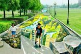 «Γιατί να μην κάνουμε 3d γκράφιτι παντού, ας πούμε μια λίμνη στο Πάρκο;»