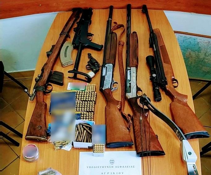Πολλά όπλα έκρυβε άνδρας σε σπίτι στo Kαινούργιο