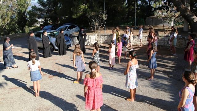 Αγιασμός στην κατασκήνωση θηλέων της Μητρόπολης Ναυπακτίας και Αγίου Βλασίου