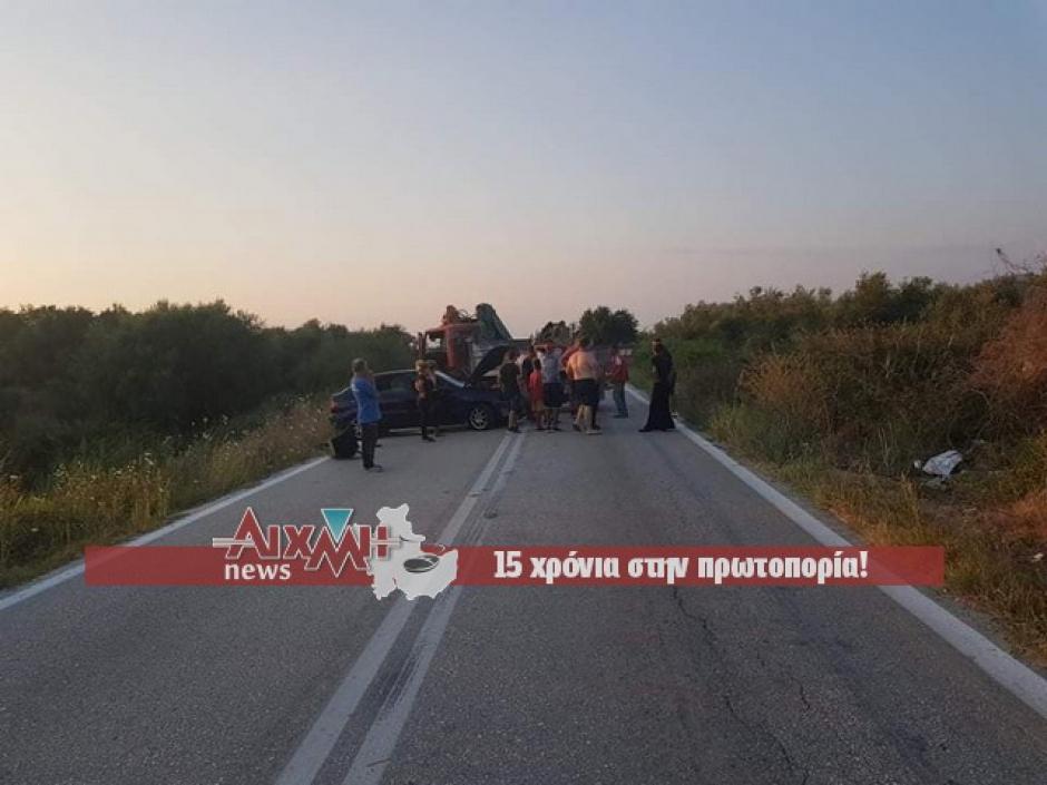 Πάνω σε φορτηγό έπεσε Ι.Χ. στο δρόμο Κατοχής – Λεσινίου