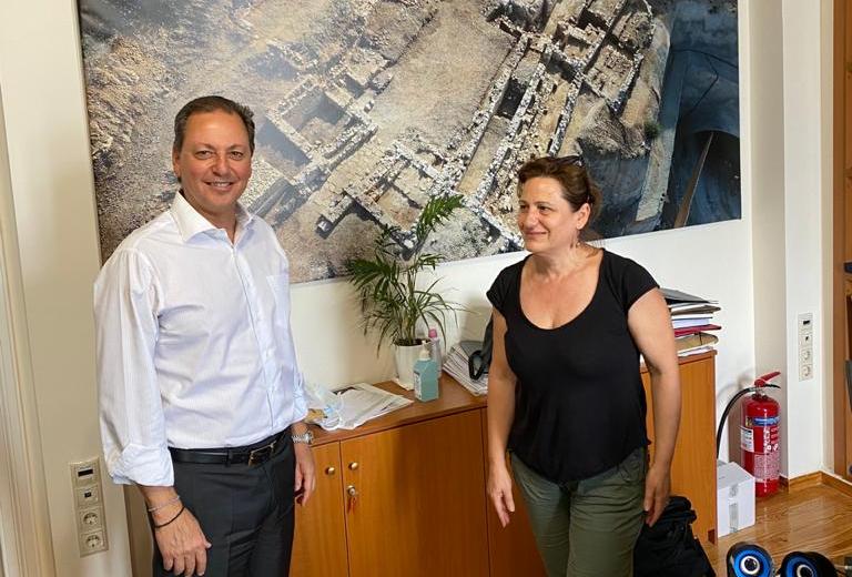 Επίσκεψη Λιβανού στην Εφορεία Αρχαιοτήτων