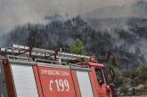 Φωτιά σε δασική έκταση στο Δερμάτι Καρπενησίου