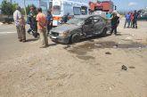 Δυο τραυματίες σε τροχαίο στη διασταύρωση Λεπενούς- Ανατροπή Ι.Χ. σε σύγκρουση με αγροτικό