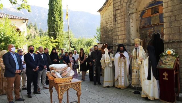 Η γιορτή της Κοιμήσεως της Θεοτόκου στην Ιερά Μονή Αμπελακιωτίσσης