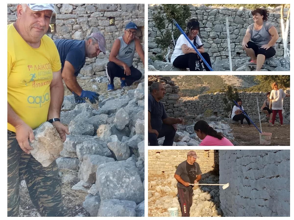 """Δράση ευπρεπισμού στο μοναστήρι της Παναγίας Ζαπαντίνας από τον Πολιτιστικό- Περιβαλλοντικό Σύλλογο """"Η Ζάβιτσα"""""""
