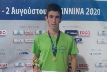 Πρωταθλητής Ελλάδας στα 5000μ. Εφήβων ο Aγρινιώτης Νίκος Σταμούλης
