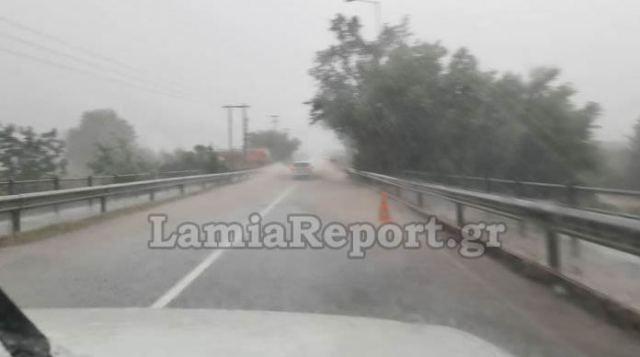 Έκλεισε η εθνική οδός Λαμίας – Καρπενησίου