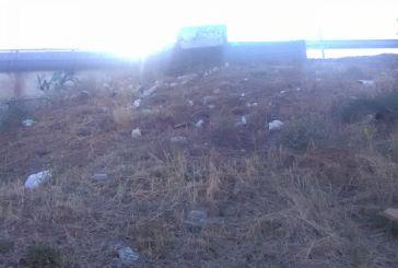 Τα έργα συνεχίζονται γύρω από την Αερογέφυρα αλλά τριγύρω έχει μπάζα και σκουπίδια