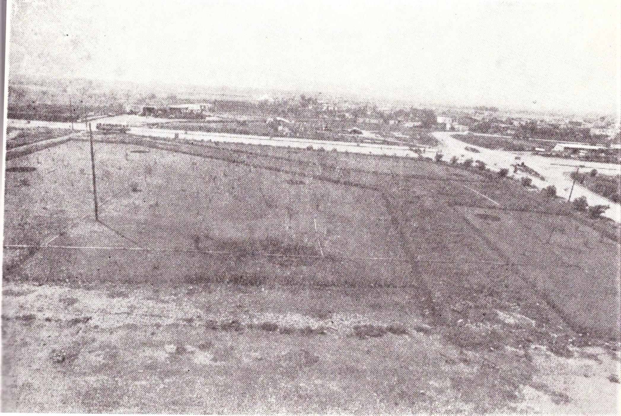 Η  διασταύρωση του Αγίου Δημητρίου στο Αγρίνιο αρχές της δεκαετίας του '70