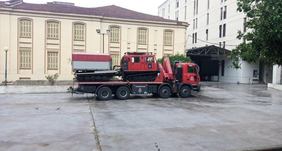 «Ιανός»: κλιμάκιο της 5ης ΕΜΑΚ και εξοπλισμός της στο Αγρίνιο
