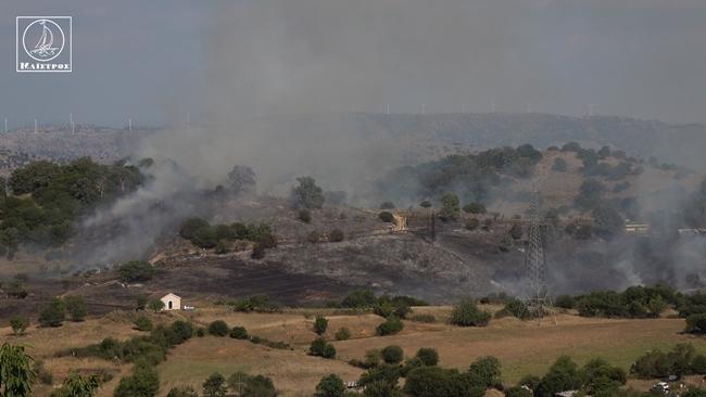 Κινητοποίηση για πυρκαγιά στην Κατούνα