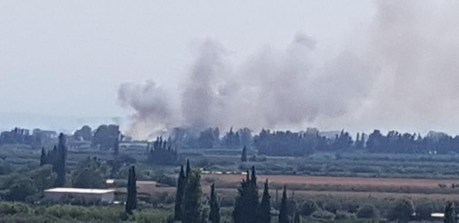 Φωτιά σε Ευηνοχώρι και Γαλατά έκαψε 20 στρέμματα καλάμια και δέντρα