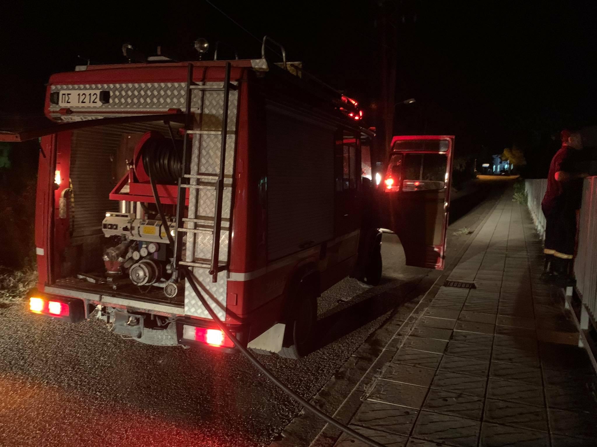 Aστακός: μεγάλες ζημιές απο πυρκαγιά σε μονοκατοικία