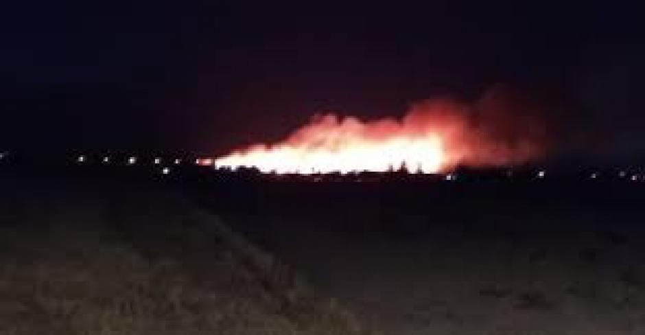 Φωτιά στο κτήμα Πετούνη στο Μεσολόγγι