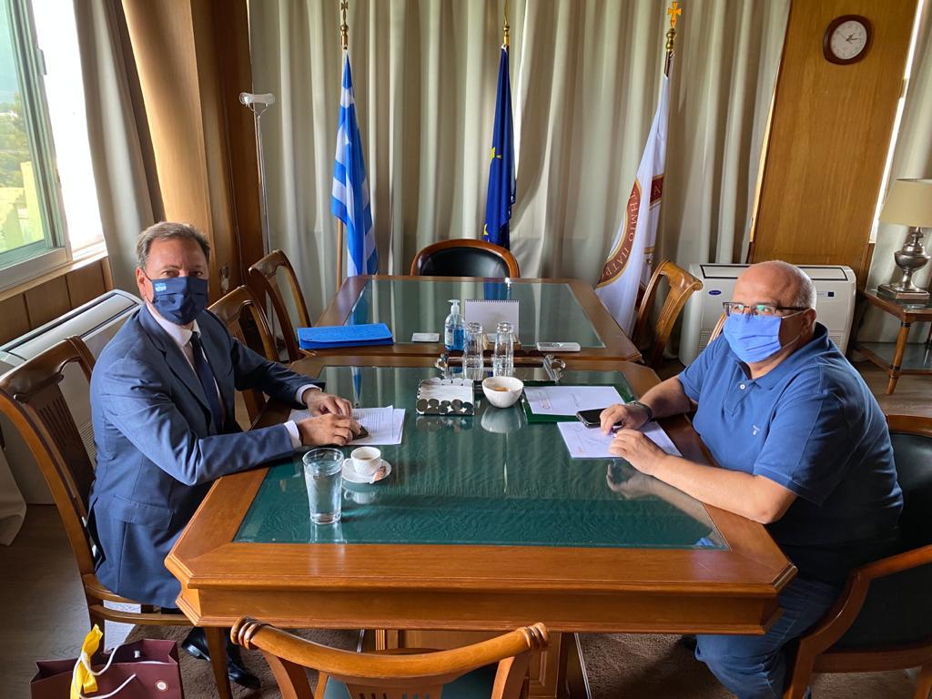 Ζήτησε τη μεταφορά του Τμήματος Γεωπονίας από την Αμαλιάδα στην Αιτωλοακαρνανία ο Λιβανός- Συνάντηση με Πρύτανη