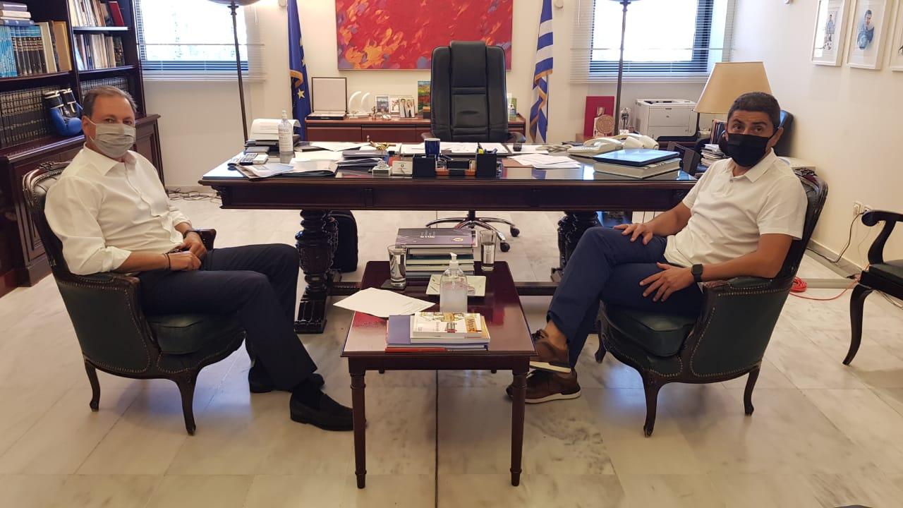Λιβανός-Αυγενάκης συζήτησαν και για τις αθλητικές υποδομές της Αιτωλοακαρνανίας