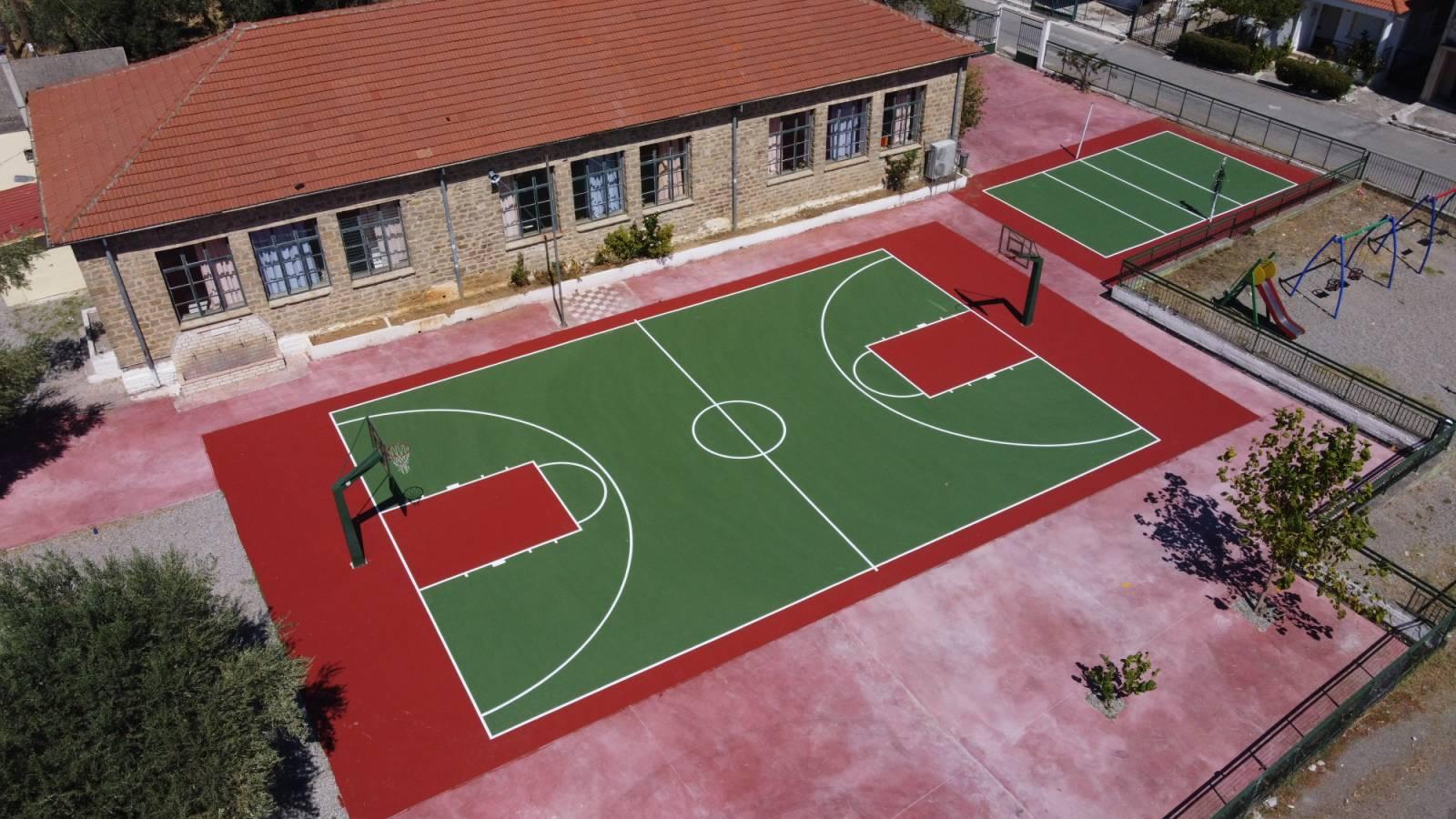 Ολοκληρώθηκε η ανάπλαση του προαυλίου του 2ου Δημοτικού σχολείου Παναιτωλίου