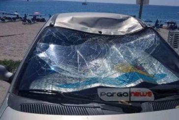 Πάργα: Αθλητής «παρά πέντε» προσγειώθηκε σε… παρμπρίζ αυτοκινήτου!