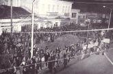 Προεκλογική συγκέντρωση στην πρώην Πλατεία Στράτου στο Αγρίνιο τη δεκαετία του '60