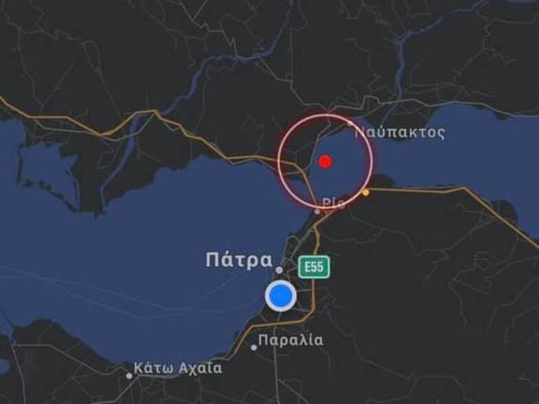 Σεισμική δόνηση 3,3 ρίχτερ τα μεσάνυχτα νοτιοδυτικά της Ναυπάκτου