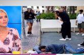 Δημήτρης Σκουλός: Σάλος με τη φωτογράφιση που έκανε δίπλα σε άστεγο