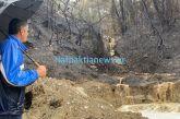 Ναυπακτία: Δύσκολη η κατάσταση στο Τρίκορφο, στο σημείο της πυρκαγιάς, λόγω «Ιανού»