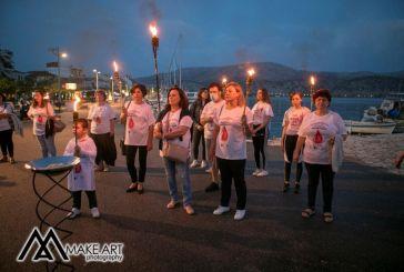 Η λαμπαδηδρομία εθελοντών αιμοδοτών στον Αστακό