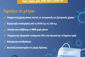 Eνημέρωση από τον Δήμο Ναυπακτίας για τα μέτρα που θα ισχύουν από την Τρίτη