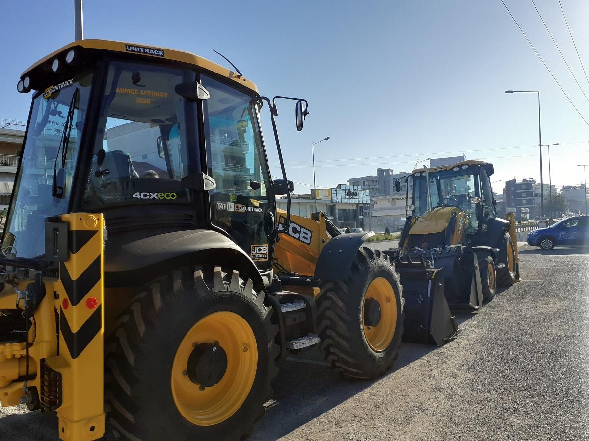 Ενίσχυση με δυο σκαπτικά μηχανήματα για το δήμο Αγρινίου