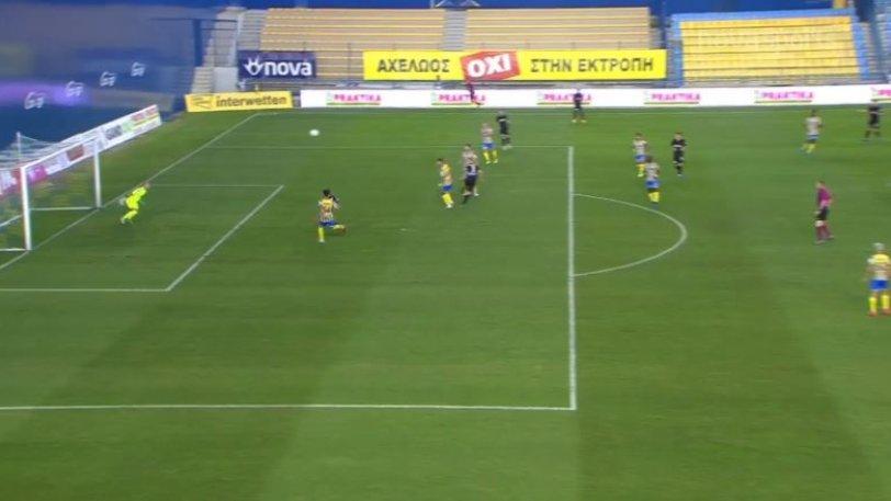 Παναιτωλικός – ΠΑΟΚ: Με κεφαλιά του Σφιντέρσκι έγινε το 0-1