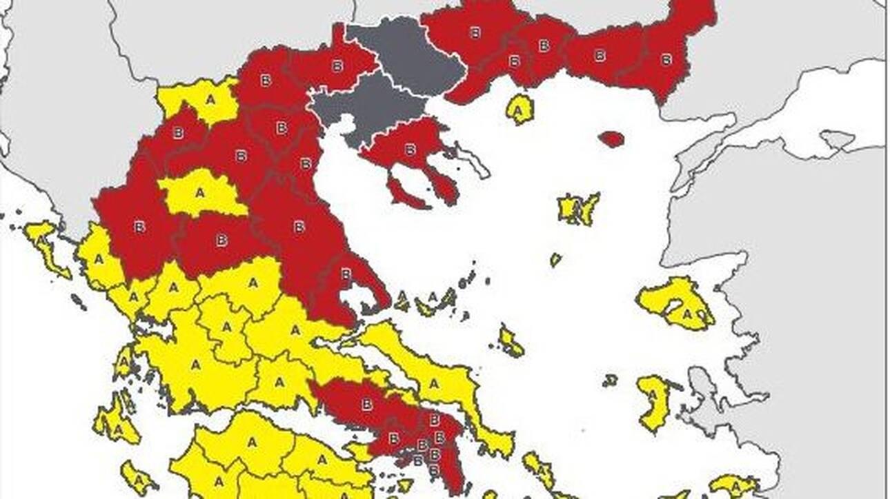 Κορωνοϊός: O νέος χάρτης υγειονομικής ασφάλειας – Σε ποιο επίπεδο κινδύνου βρίσκεται κάθε περιοχή
