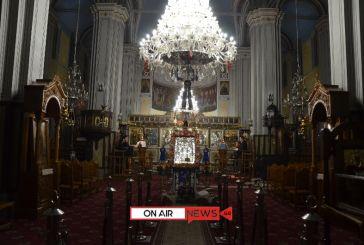 Συγκίνηση στο Μεσολόγγι που εορτάζει τον Πολιούχο του Άγιο Σπυρίδωνα με άδειες εκκλησίες