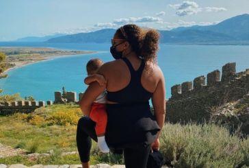 Mε φωτογραφία από Αιτωλοακαρνανία η σύζυγος του Γιάννη Αντετοκούνμπο αποχαιρέτησε την Ελλάδα