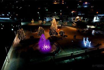 Βίντεο: H Χριστουγεννιάτικη Αμφιλοχία από ψηλά εν μέσω lockdown