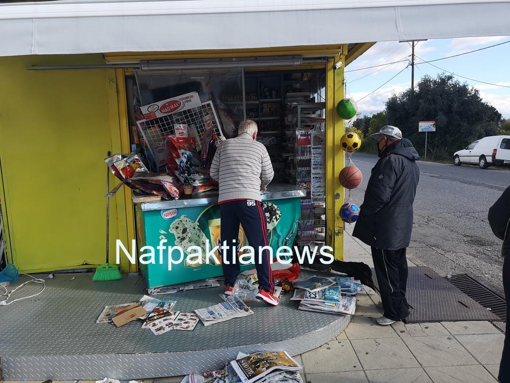 Ένα περίεργο ατύχημα στη Ναύπακτο