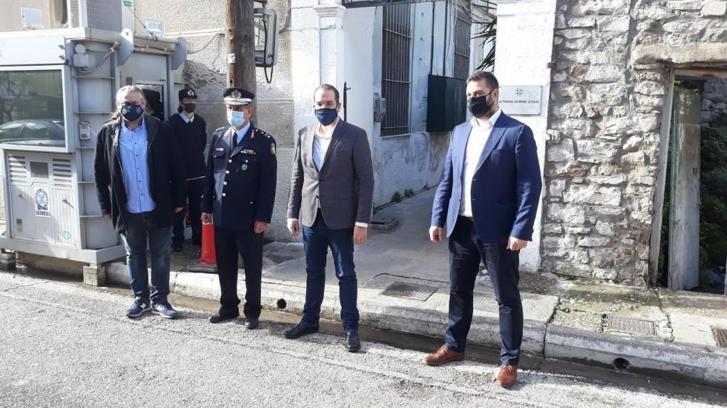 Στην Αστυνομική Διεύθυνση Αιτωλίας για ευχές ο Νεκτάριος Φαρμάκης