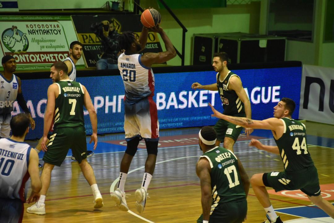 Basket League: Ανετο διπλό του Παναθηναϊκού στο Αγρίνιο, 73-66 το Μεσολόγγι