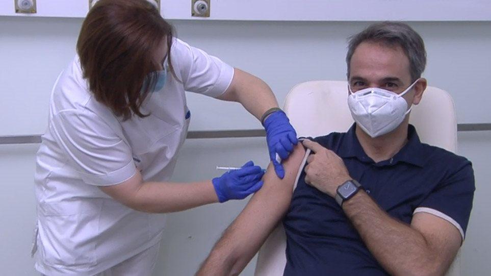 Εμβολιάστηκε ο Κυριάκος Μητσοτάκης-«Παντελώς ανώδυνη διαδικασία», είπε
