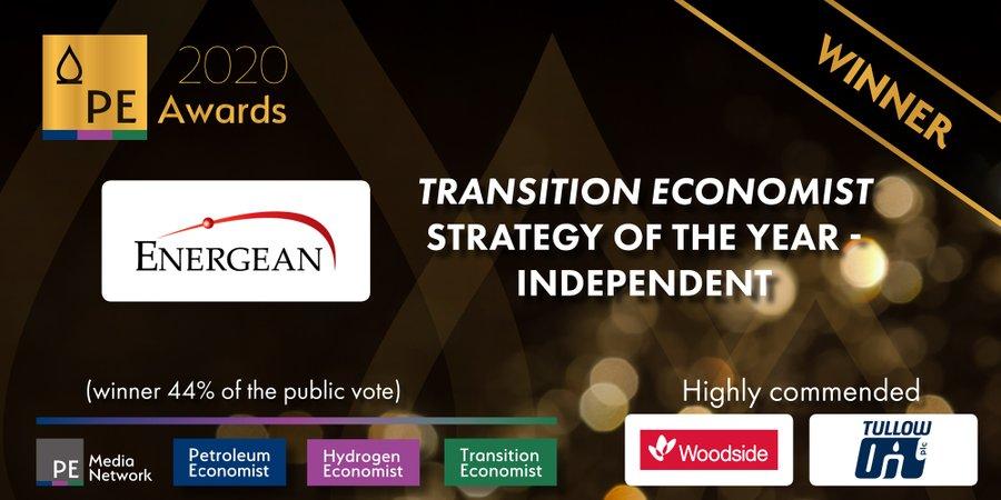 O Petroleum Economist βραβεύει την Energean για την καλύτερη Στρατηγική για την Ενεργειακή Μετάβαση