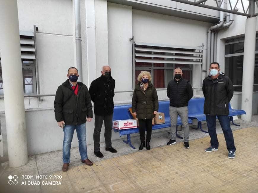Προσφορά Προπονητών  την κλινική covid του Νοσοκομείου Αγρινίου
