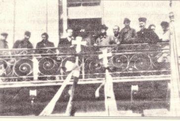 Φωτό από δημόσια εμφάνιση του Άρη Βελουχιώτη στην Αιτωλοακαρνανία